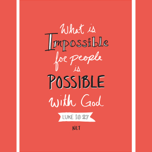 Possible with God